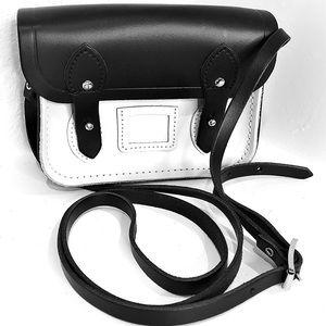 👛 Cambridge Satchel Black White Crossbody Handbag